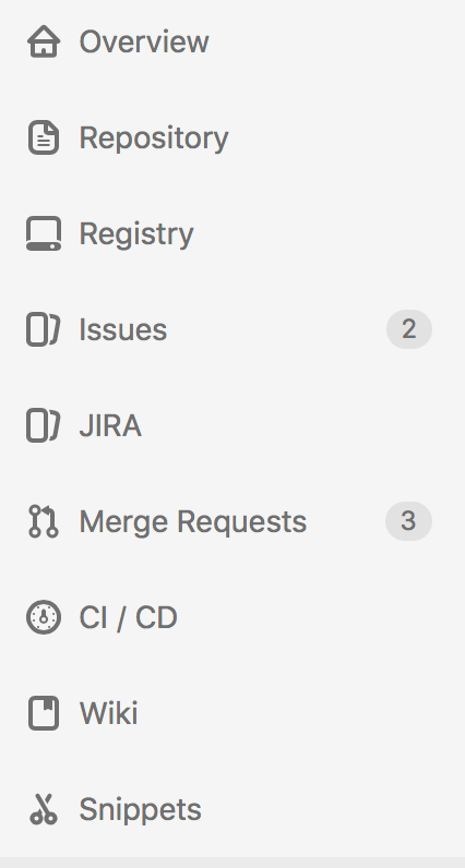 Jira in Menu