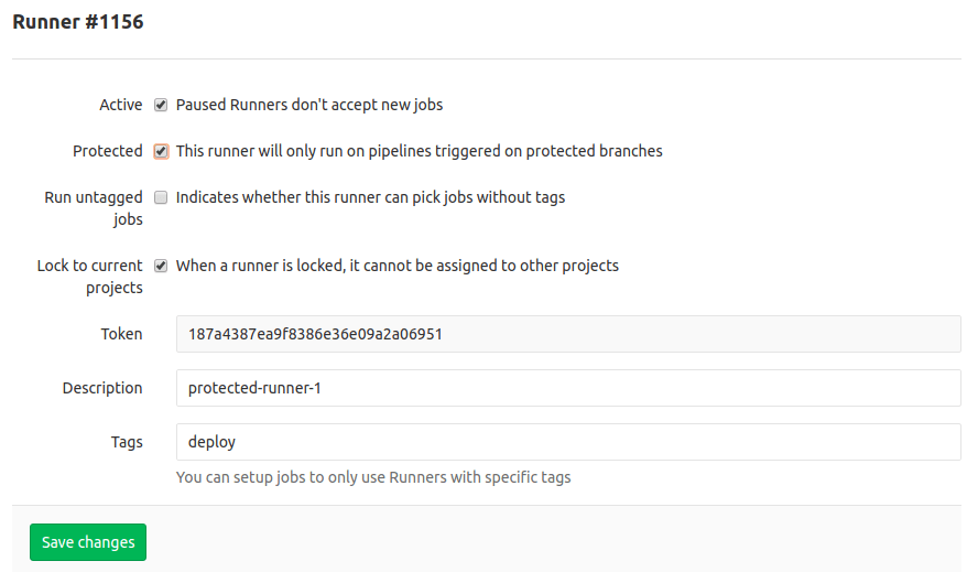 Protected GitLab Runners