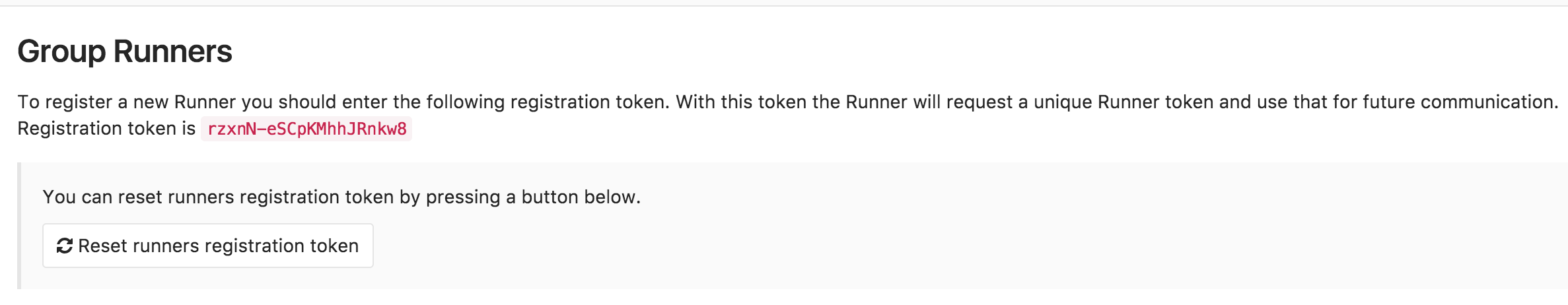 GitLab Runners for groups
