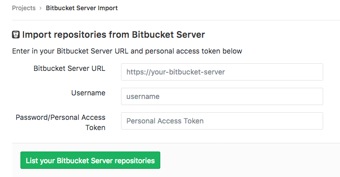 Importer for Bitbucket Server