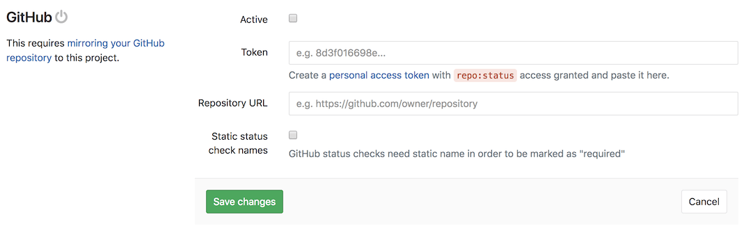 Consistent status-check names for GitHub integration