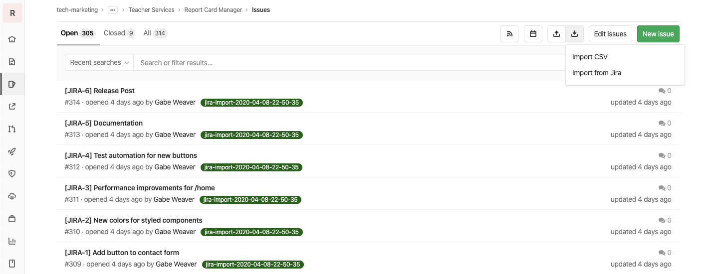 Import Issues from Jira to GitLab