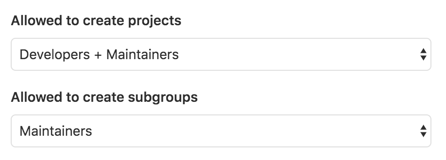 Maintainers can create subgroups