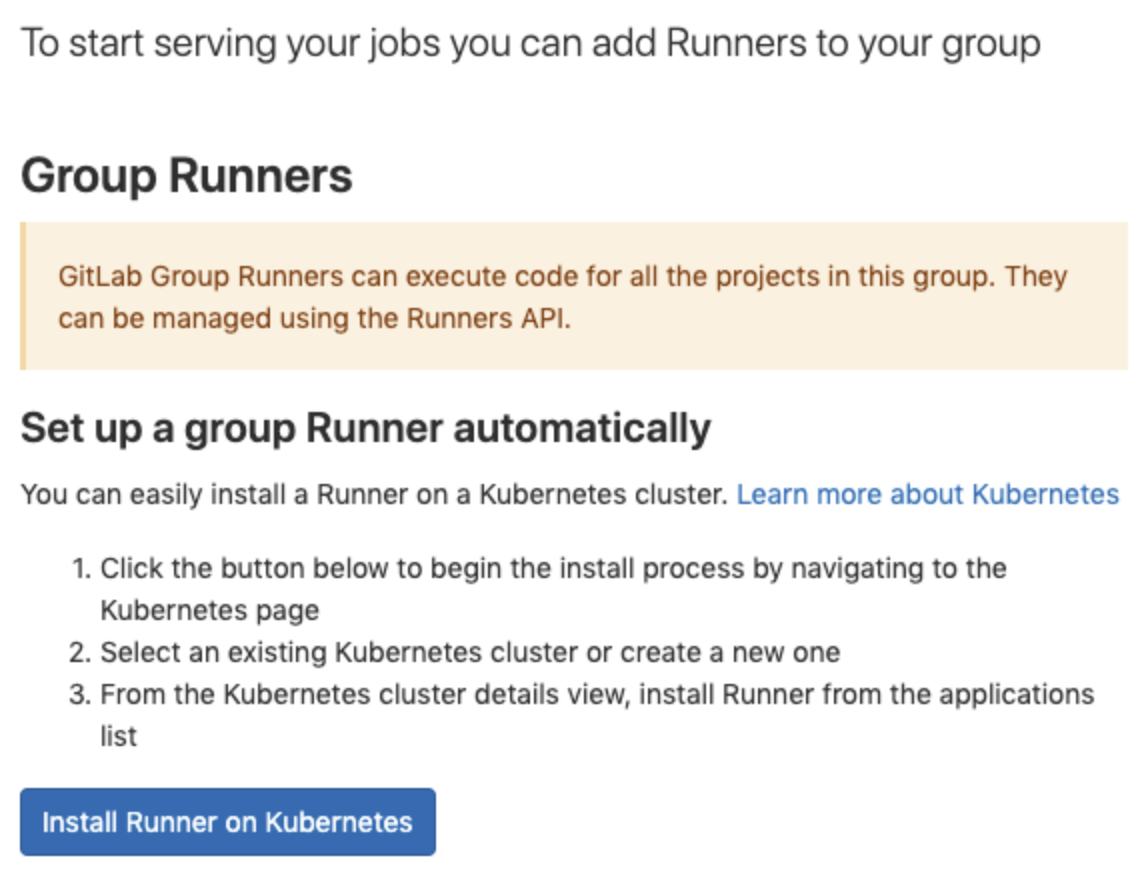 One-click Install for Group Runner on Kubernetes