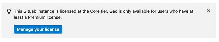 Geo improved license banner
