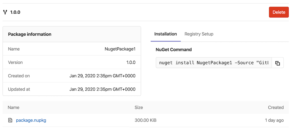 Build, publish, and share packages to the GitLab NuGet (.NET) Repository