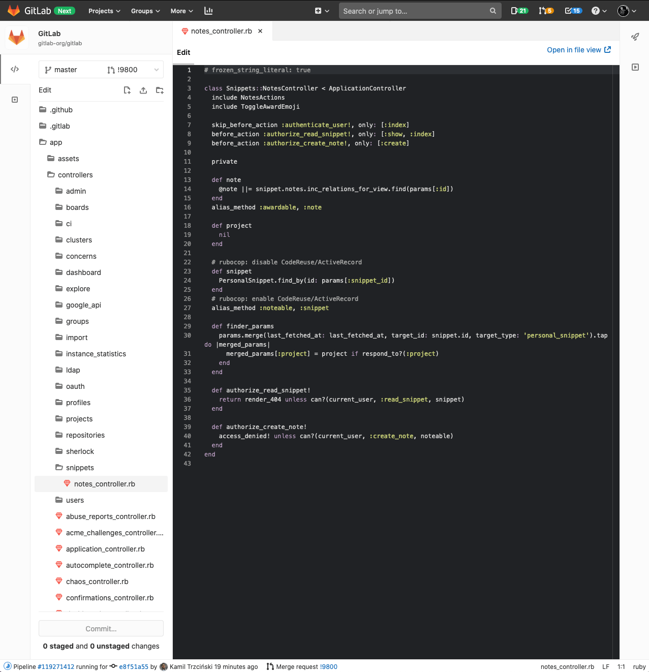 Dark syntax highlighting theme for Web IDE