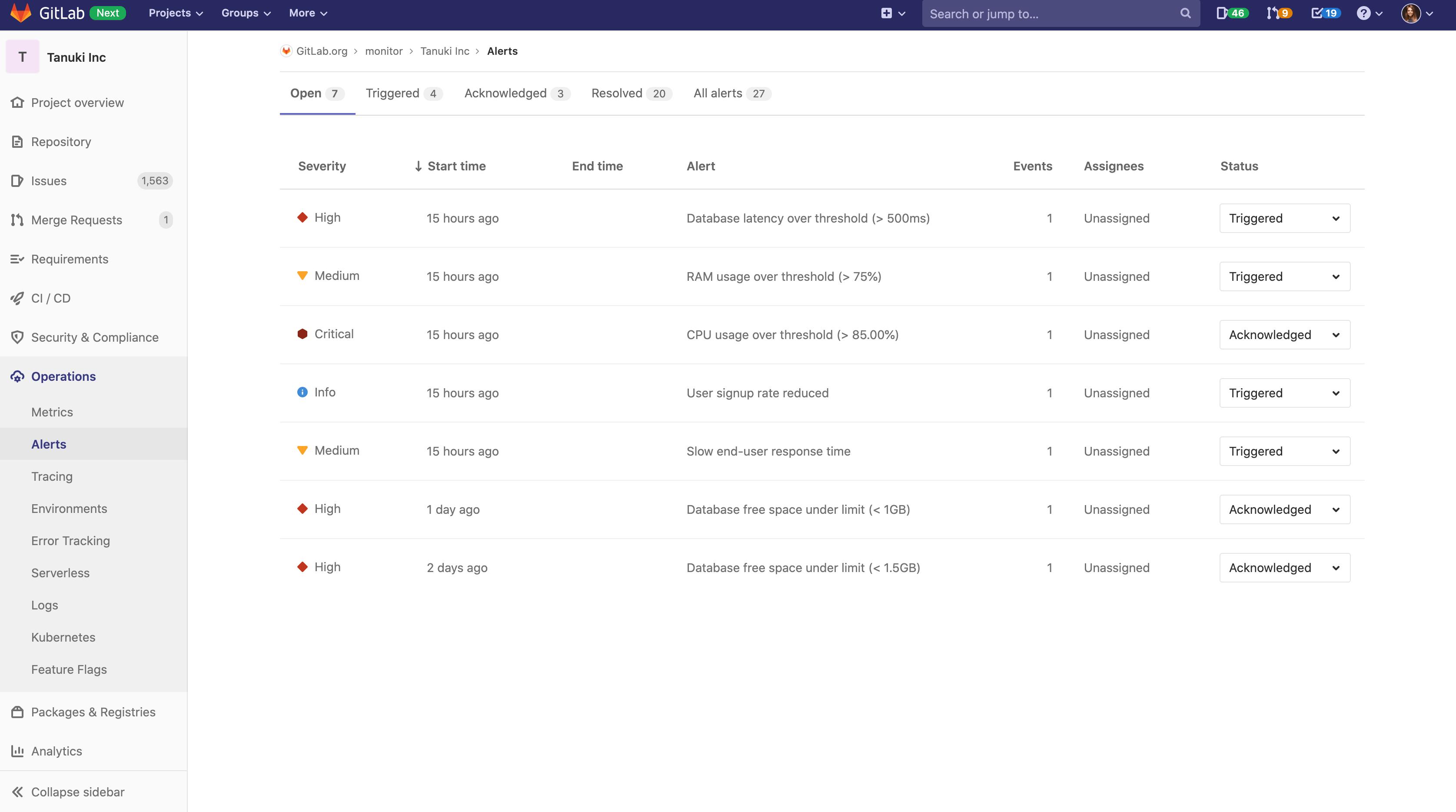 Manage IT Alerts in GitLab