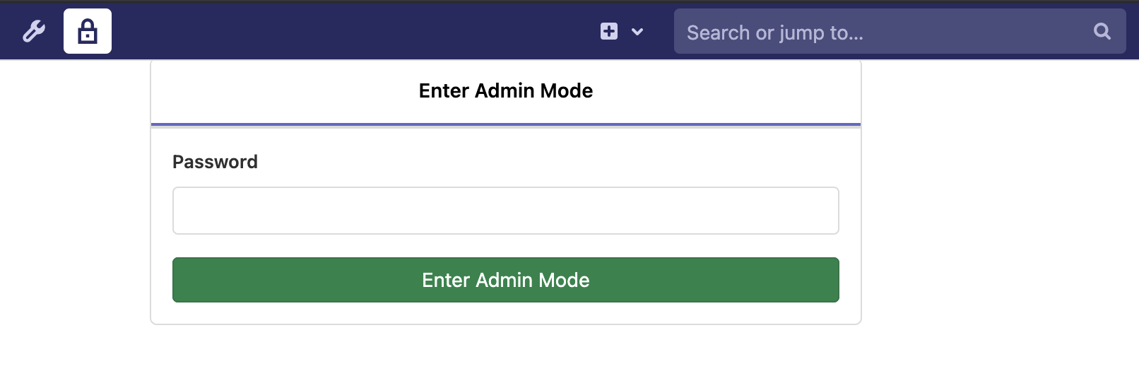 Admin Mode: Re-authenticate for GitLab administration