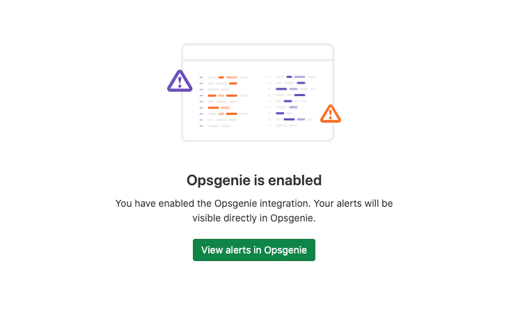Access Opsgenie from the GitLab user interface
