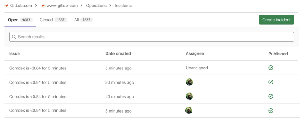 Manually create Incidents from the Incidents List