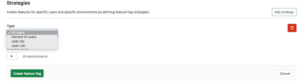 Rename Feature Flag user strategies