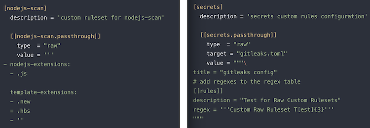 Customizing SAST & Secret Detection rules