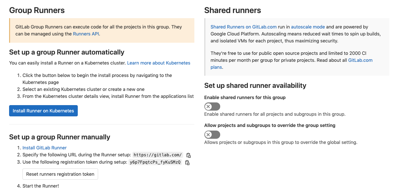Enable instance-level shared runners when viewing groups