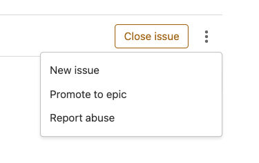 Use a button to promote an issue to an epic