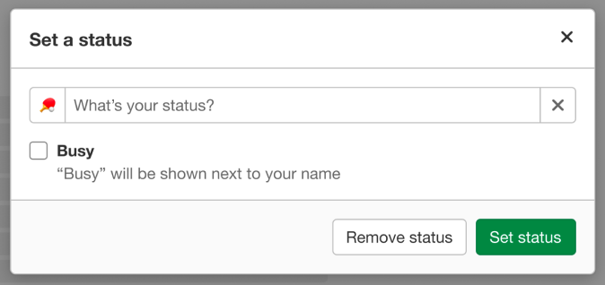 Busy status indicator