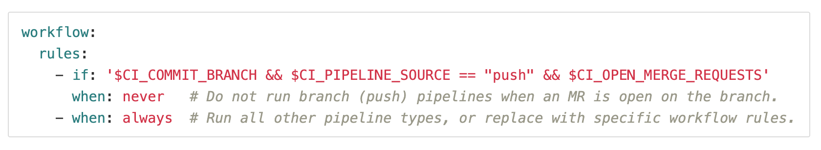 Use both branch and MR pipelines without duplication