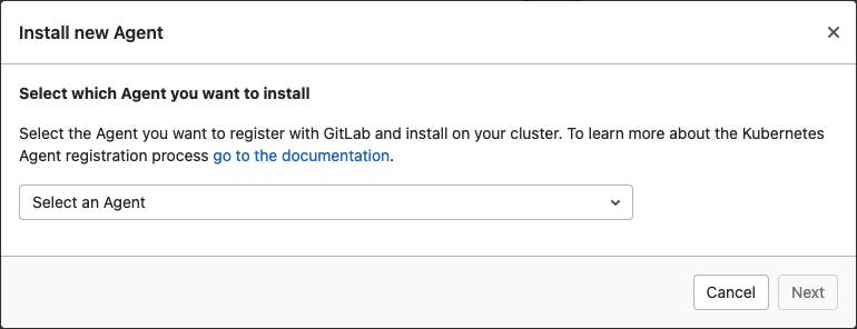 New GitLab Kubernetes Agent UI