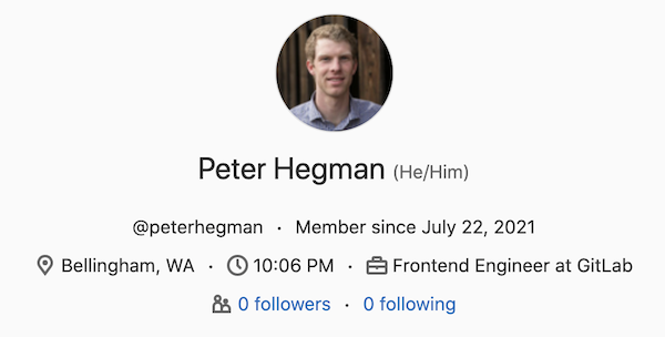 Display local time on user's profile