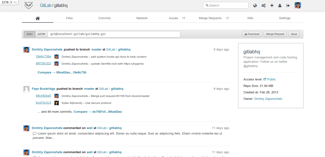 gitlab release standing on its own two feet gitlab screenshot