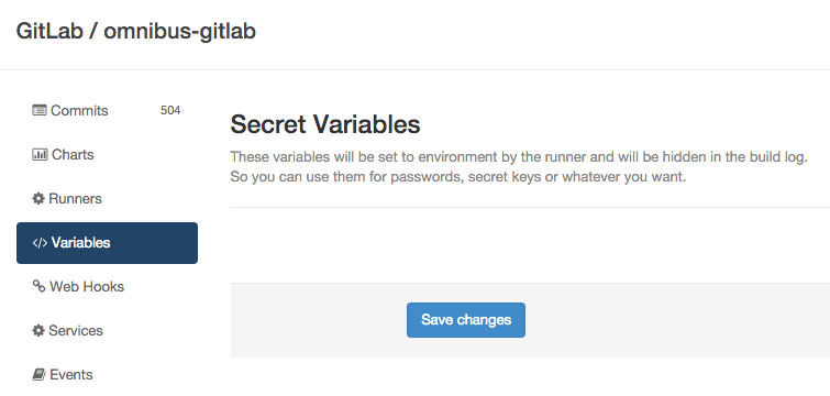 Secret Variables