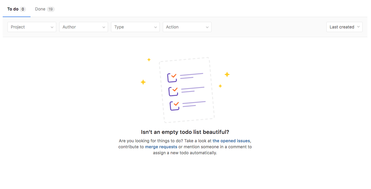 Even empty is beautiful in GitLab 8.15