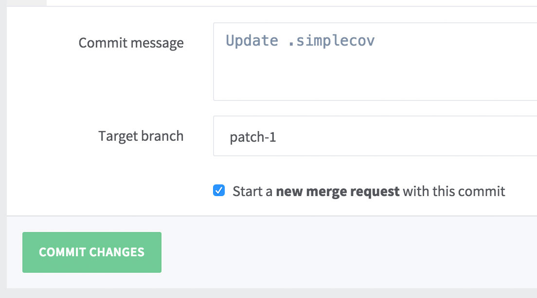 Quickly create a new MR from the web editor in GitLab 8.3
