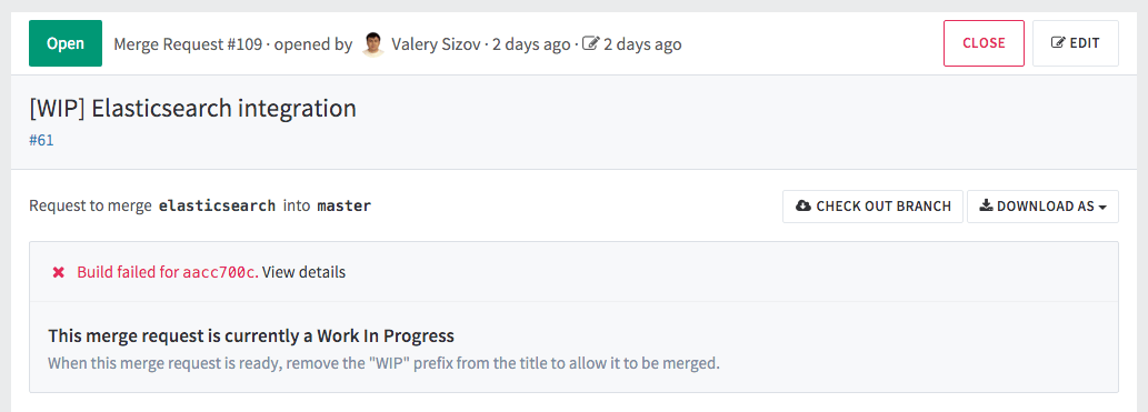 WIP merge request in GitLab 8.3