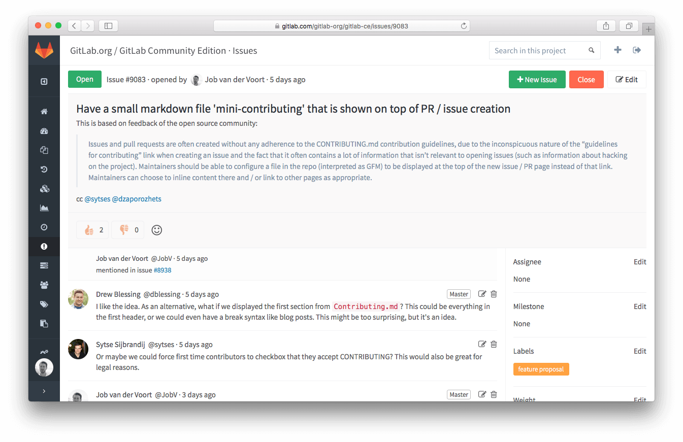 Renewed issue design in GitLab 8.4