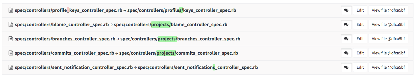 See differences on file renames in Gitlab 8.5