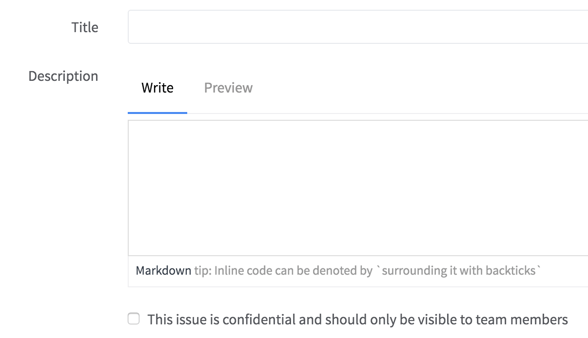 Use confidential issue for sensitive matters in GitLab 8.6