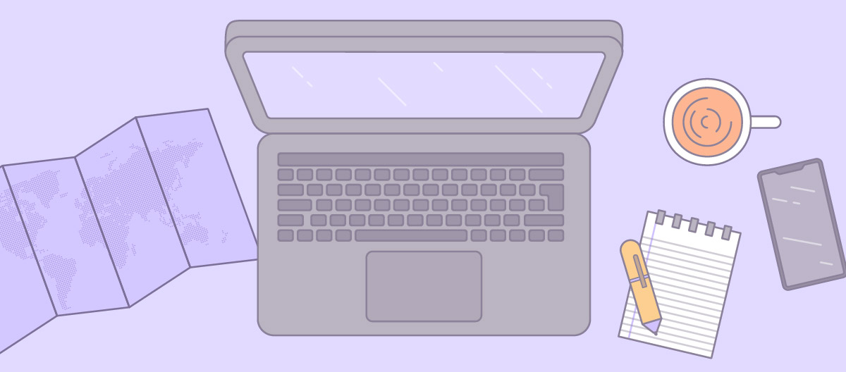 GitLab all-remote laptop illustration