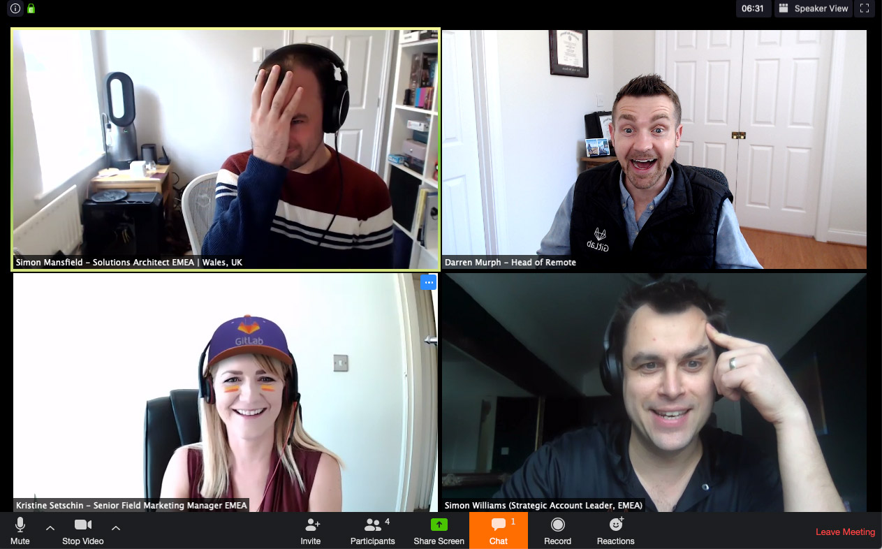GitLab marketing team Show & Tell social call