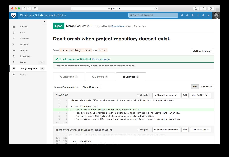 GitLab CI integration