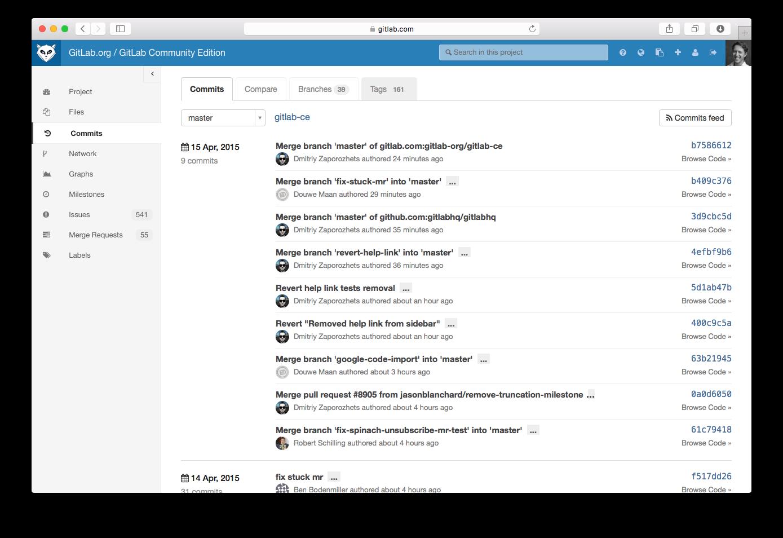Nice design of GitLab