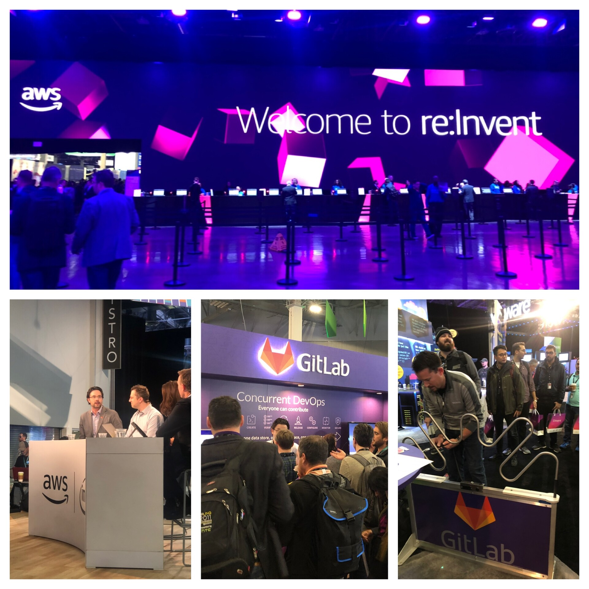 Collage from GitLab at AWS re:Invent