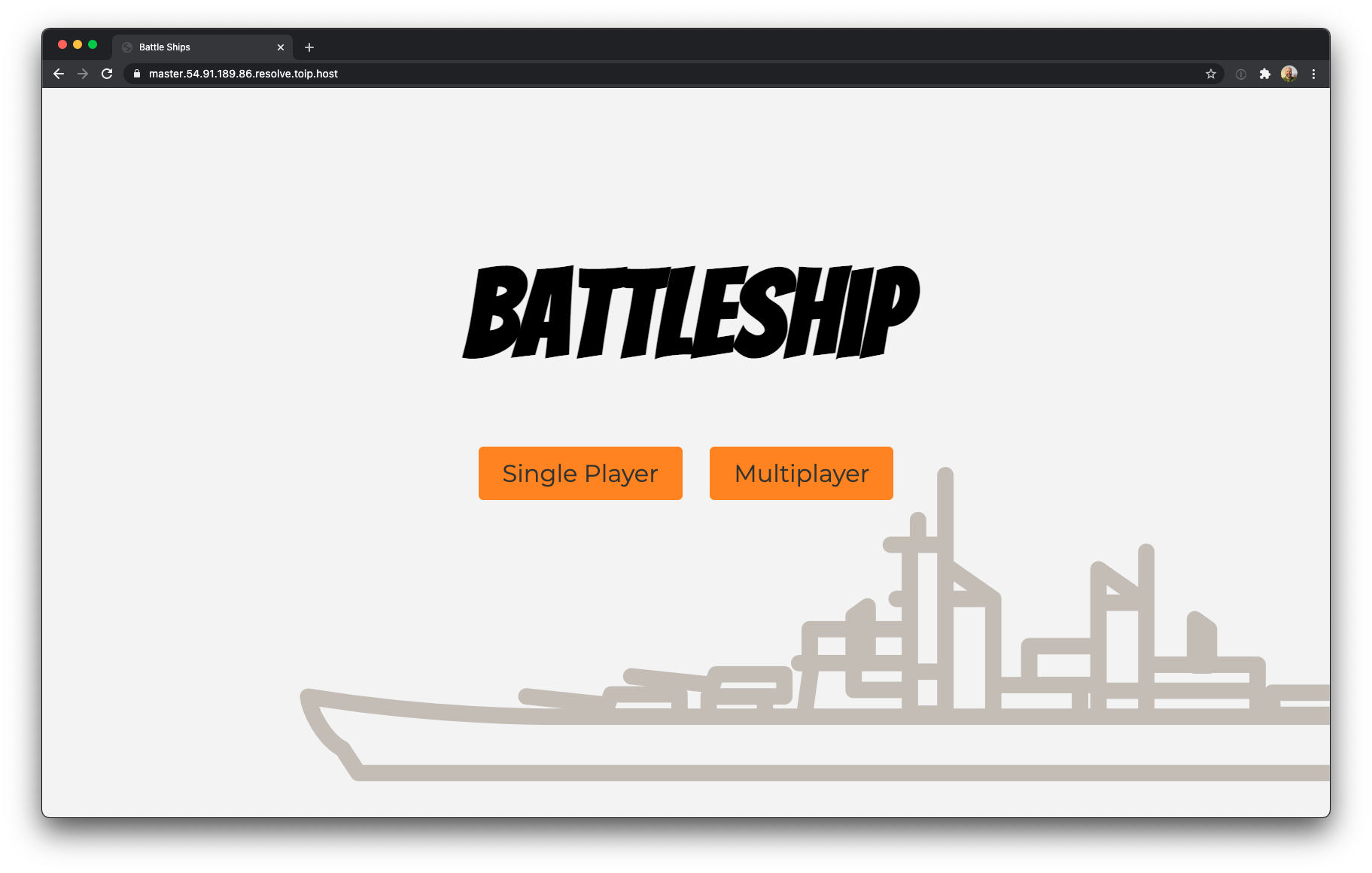 Battleship web app deployed in AWS with the 5 minute production app