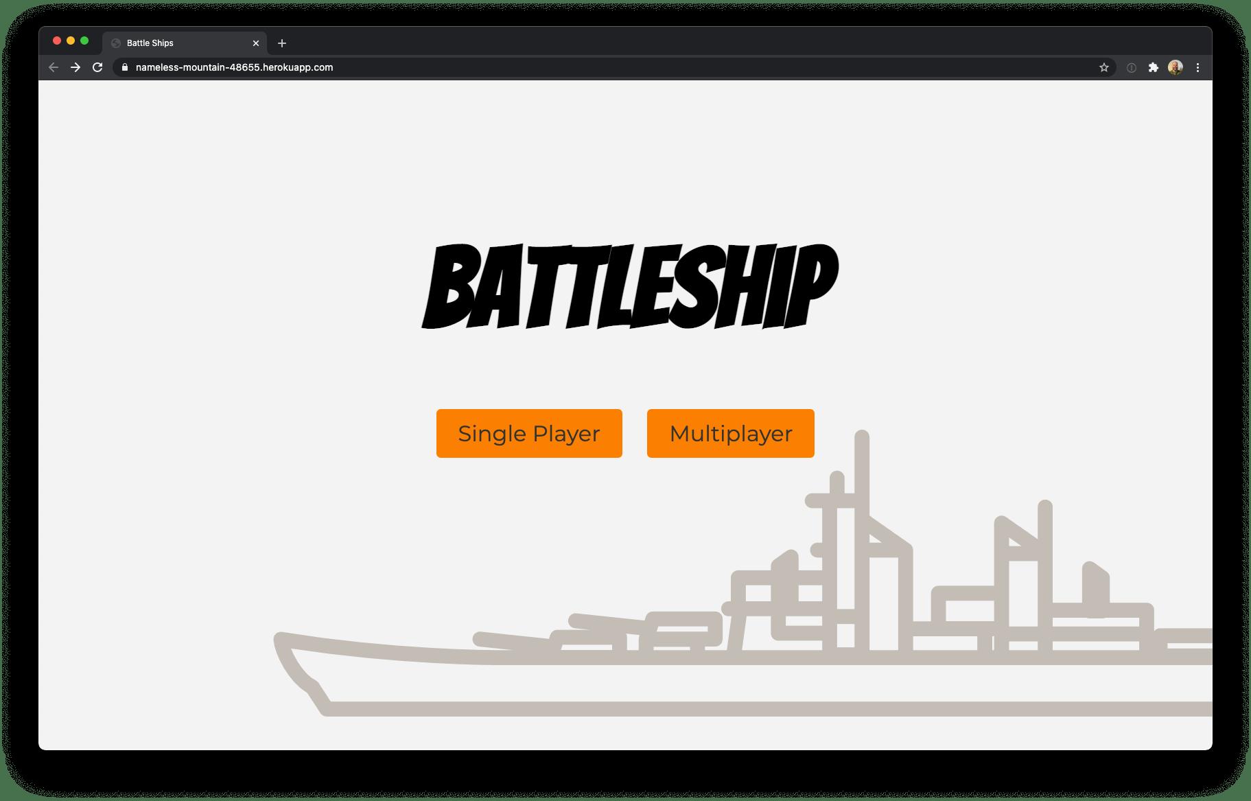Battleship web app deployed with Heroku