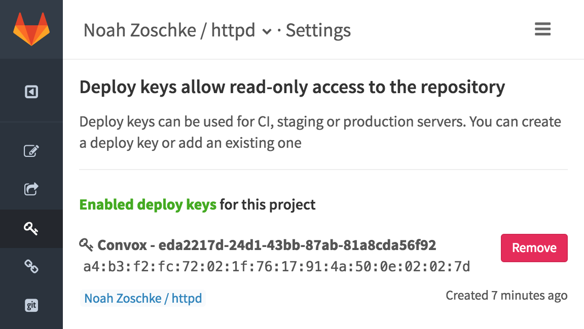 Read-only SSH key
