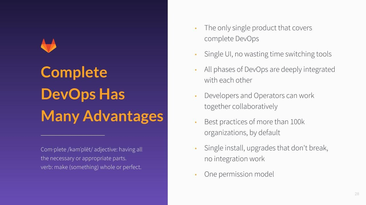 The advantages of Complete DevOps