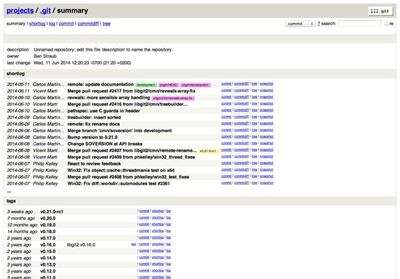 GitWeb user interface