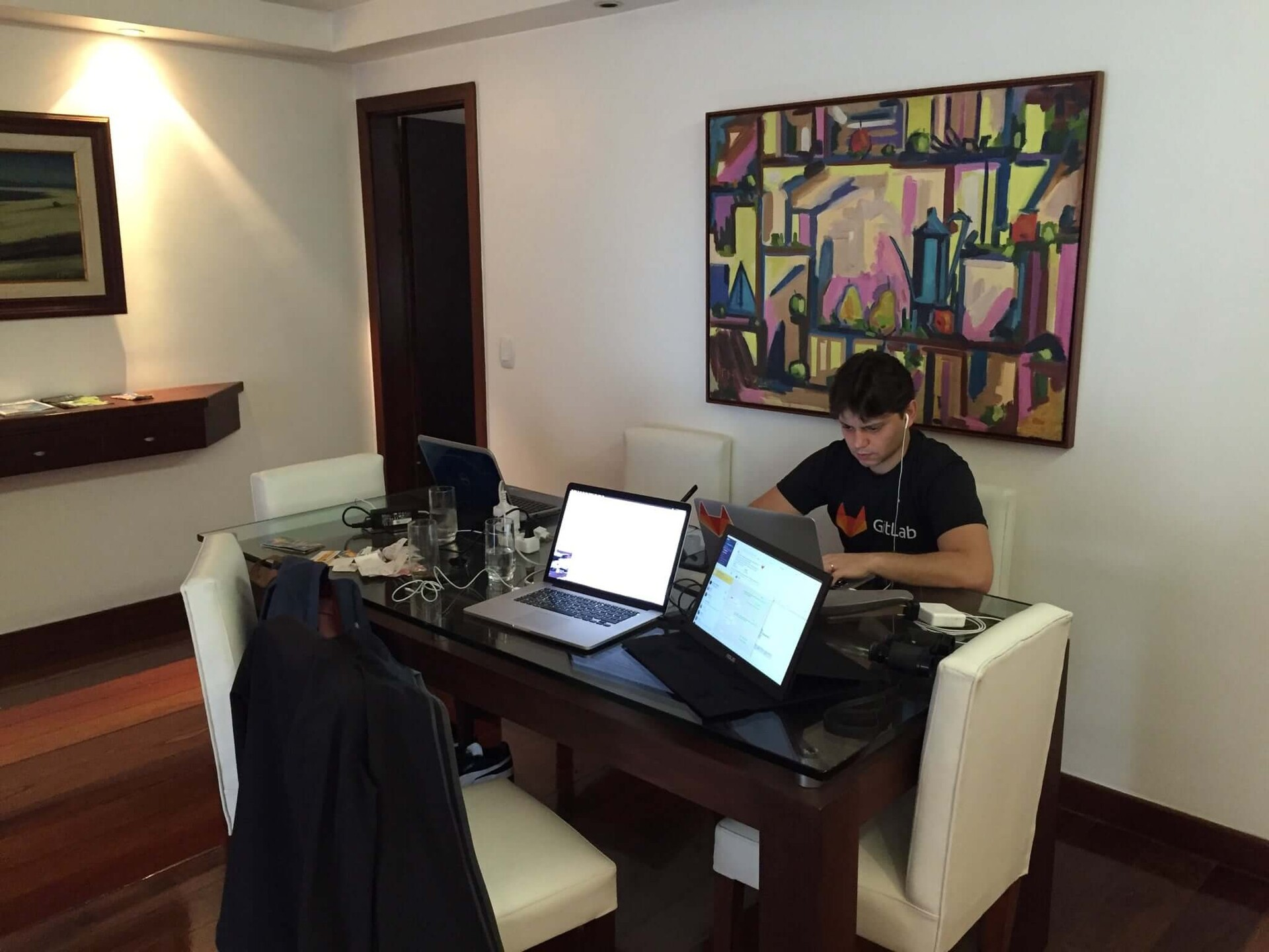 Our temporary office in Rio