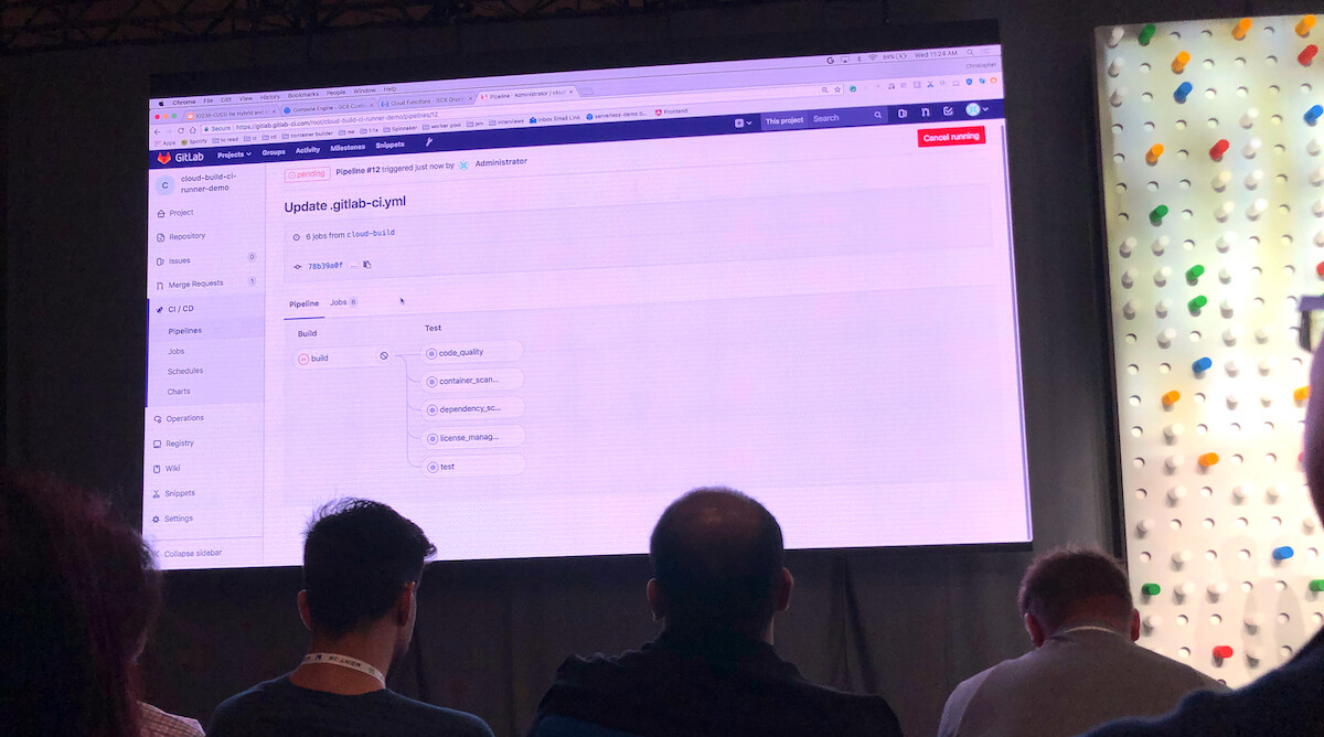 Christopher Sanson demos GitLab CI/CD with Cloud Build