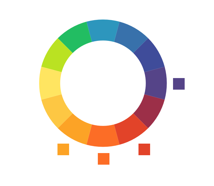 Color wheel generated from the brand colors