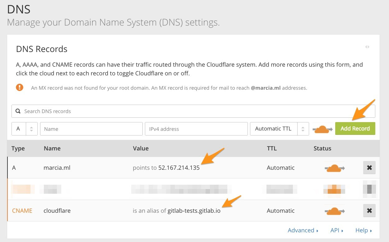 set up Cloudflare DNS