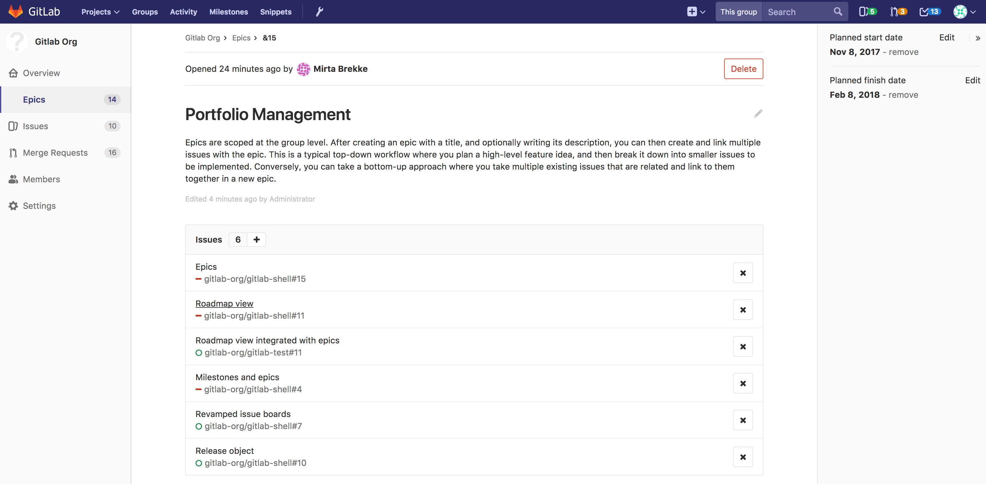 gitlab delete project