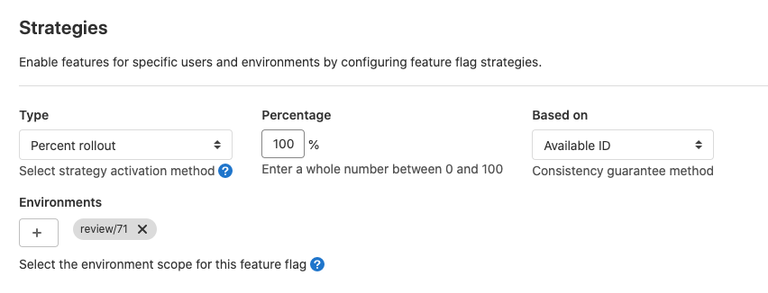 Flexible Rollout Strategy for Feature Flags