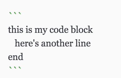 how to create fenced code block