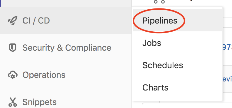 Shortcut to pipelines page