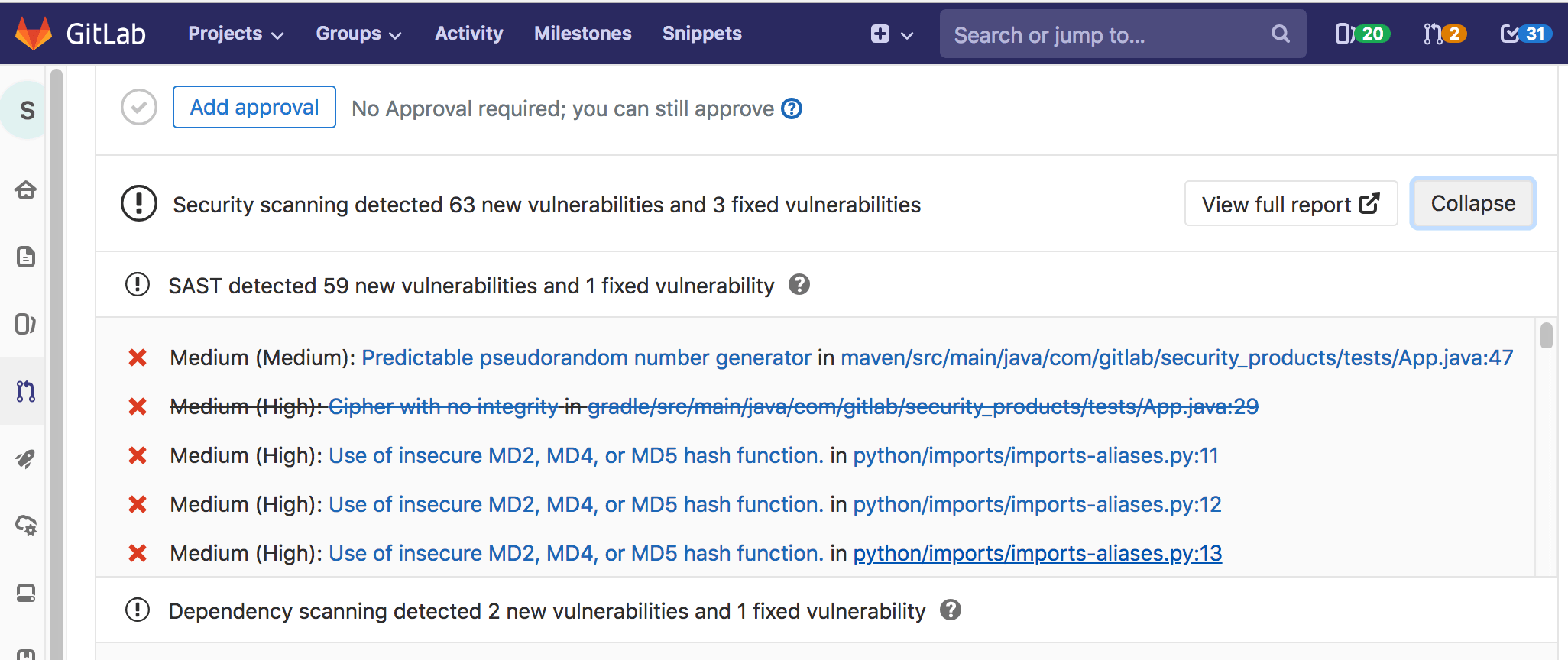 Gitlab Static Application Security Testing